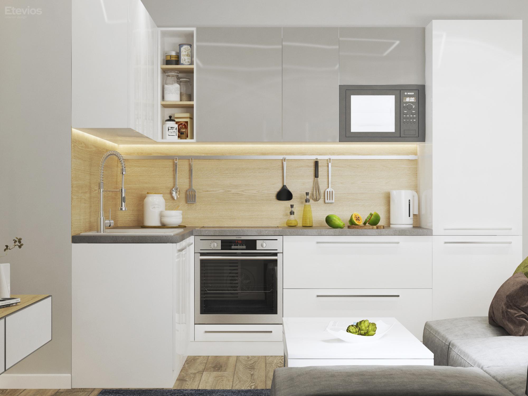ЖК Уют 3D - Новосибирск - Кухня-гостиная